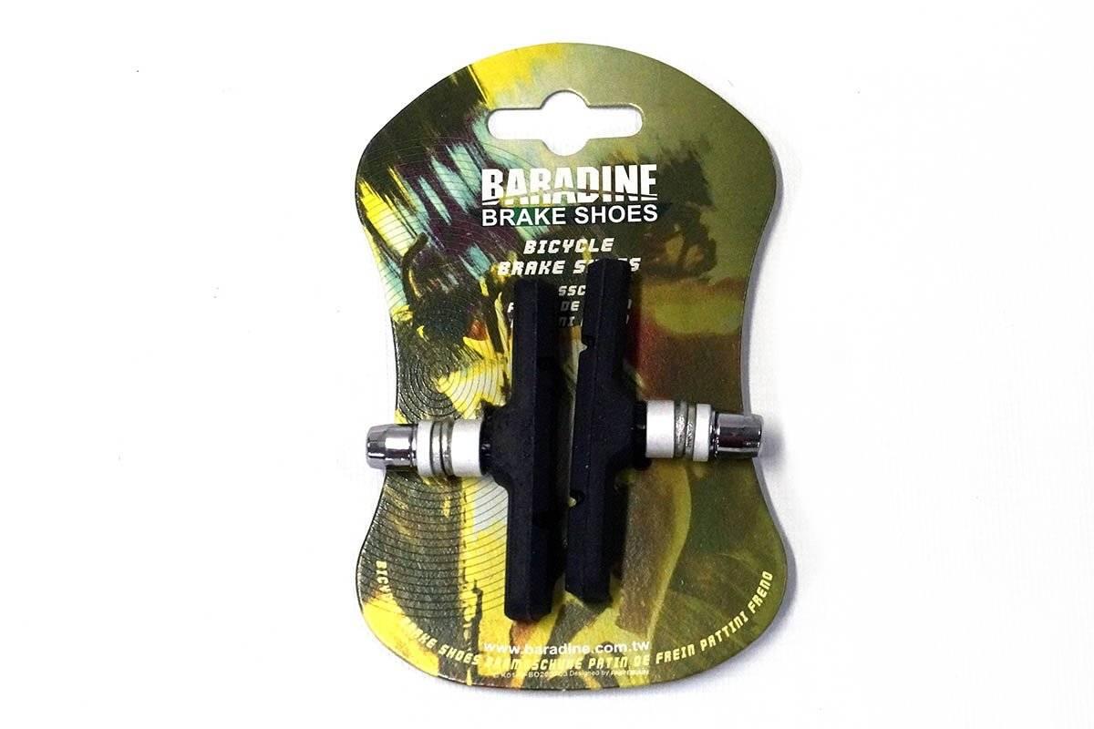 Колодки тормозные Baradine 948V, МТВ/BMX, 60мм, черные