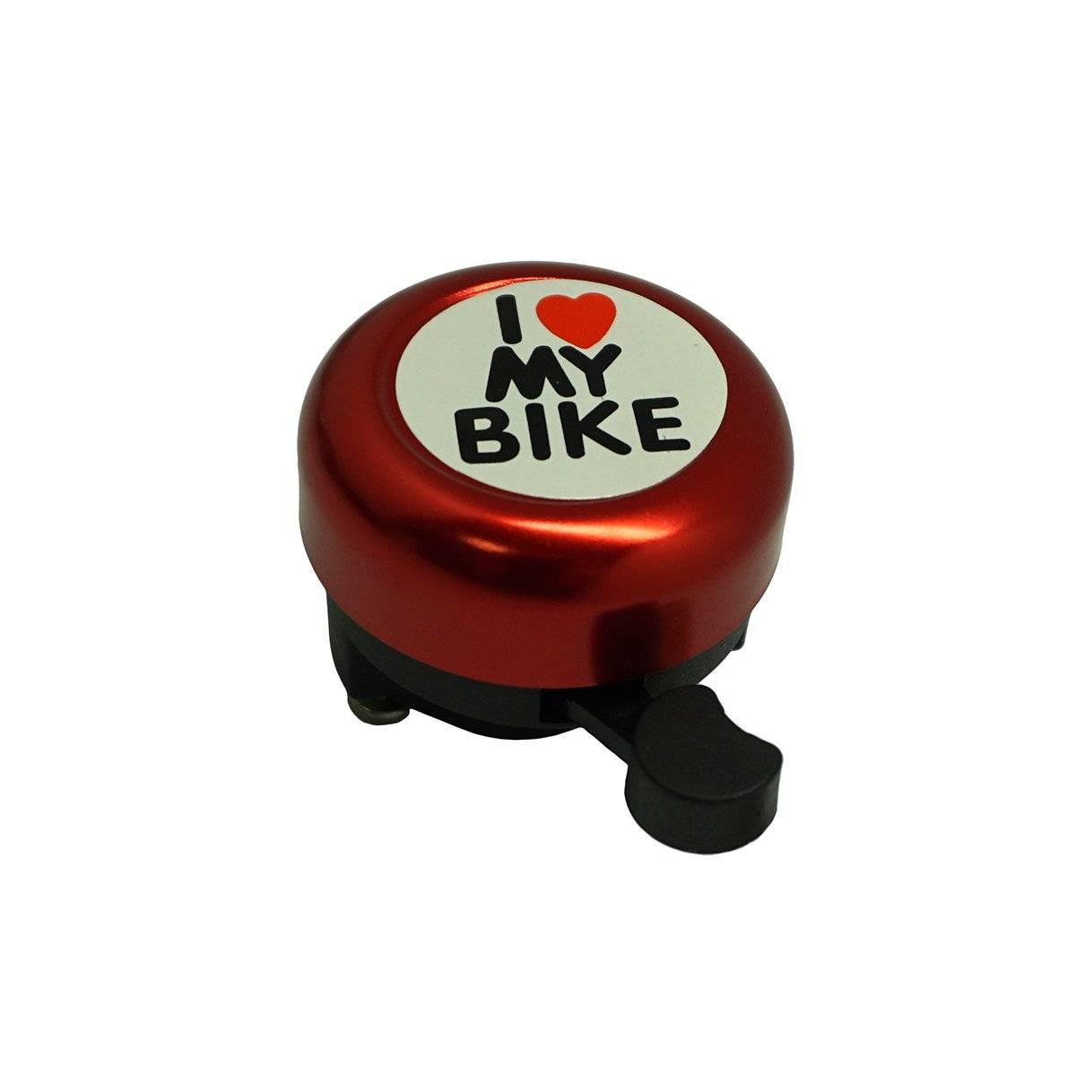 Звонок велосипедный Bike красный, в торговой упаковке