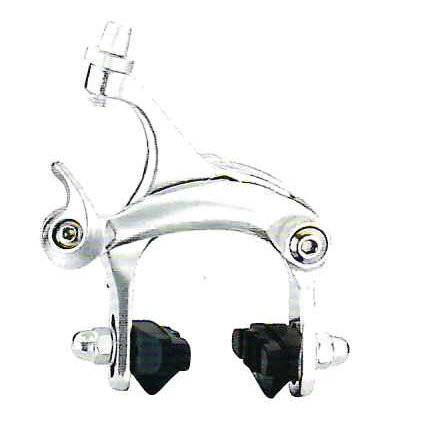 Велотормоза калиперные CB-501, алюминий, серебристый, с колодками 50мм, передний+задний, CB-501