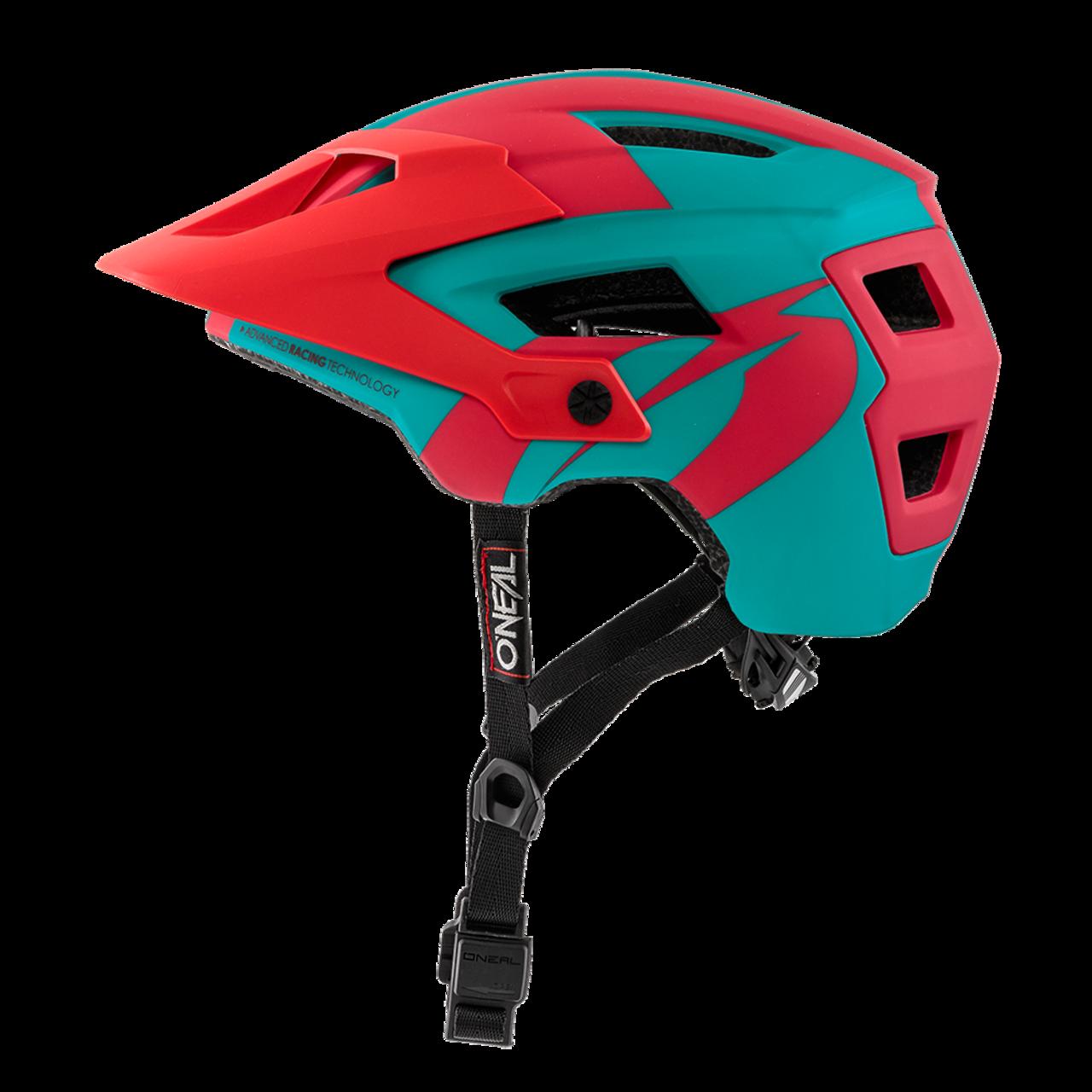 Велошлем O´Neal Defender 2.0 Sliver Teal/Red 2018 недорого