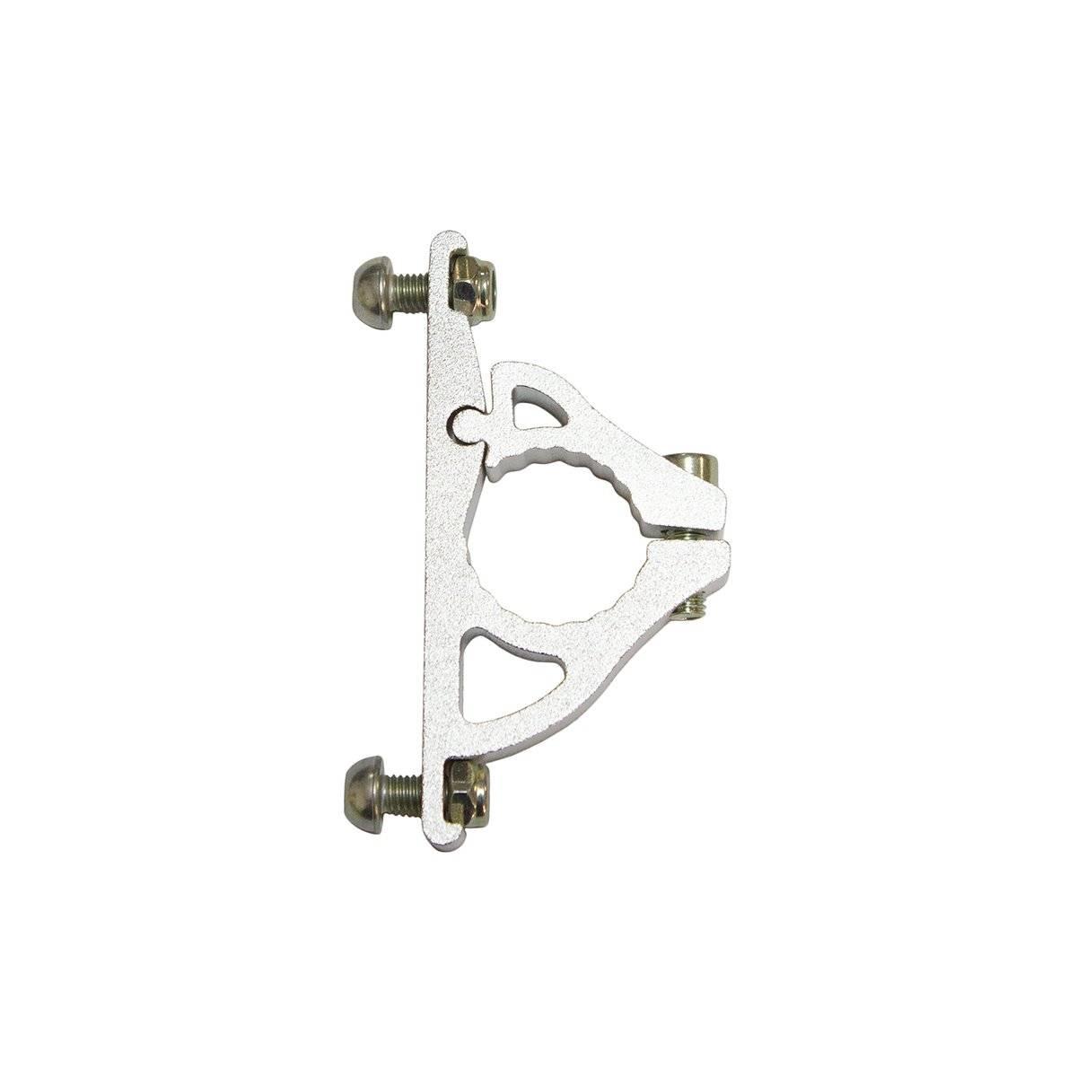 Фото - Адаптер для флягодержателя OSTAND CD-07, на руль D 22,2 мм, алюминий, серебристый, CD-07 адаптер b twin крепеж для флягодержателя на руль на вынос руля или на подседельный штырь