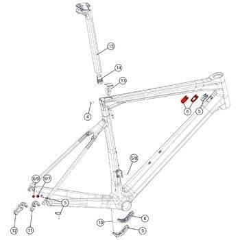Комплект из крышек и заглушек для рам Di2 kit BMC №8, 301102