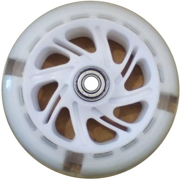 Колесо для самоката, с 2 подшипниками ABEC-7, d - 117мм, белое, SC 01 WH