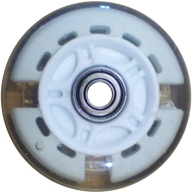 Колесо для самоката, с 2 подшипниками ABEC-7, d - 81мм, белое, SC 02 WH