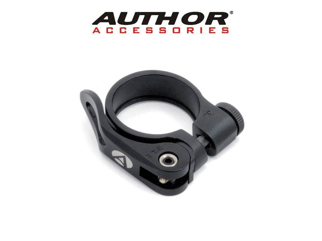 Хомут подседельный велосипедный Author AQR-C09-28,6мм (33) алюминий черный 8-30052015