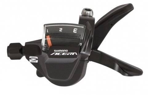 Шифтер велосипедный Altus Shimano, M3000, 3 скорости, трос 1800 мм, ESLM3000LB