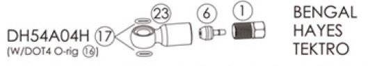 Фиттинги и переходники BENGAL для гидролиний BENGAL, HAYES в блистере, DH54A04H