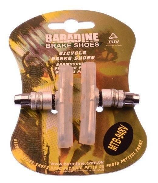 Колодки тормозные Baradine 948V, для МТВ/BMX велосипеда, 60 мм, прозрачные