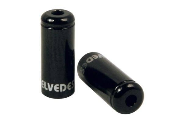 Велосипедный колпачок для рубашки переключения ELVEDES, Ø4,2мм, алюминий, черный, ELV2012008