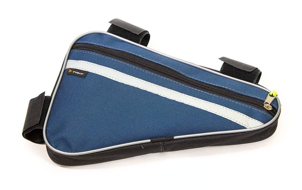 Велосумка TRIX под раму, средняя, синяя, вр014.030.1.0