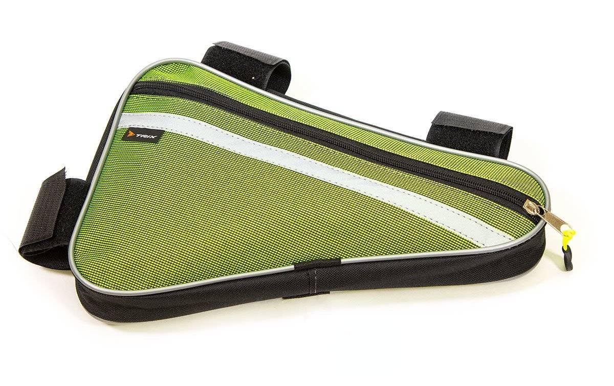 Велосумка TRIX под раму, средняя, зеленая, вр014.030.1.0
