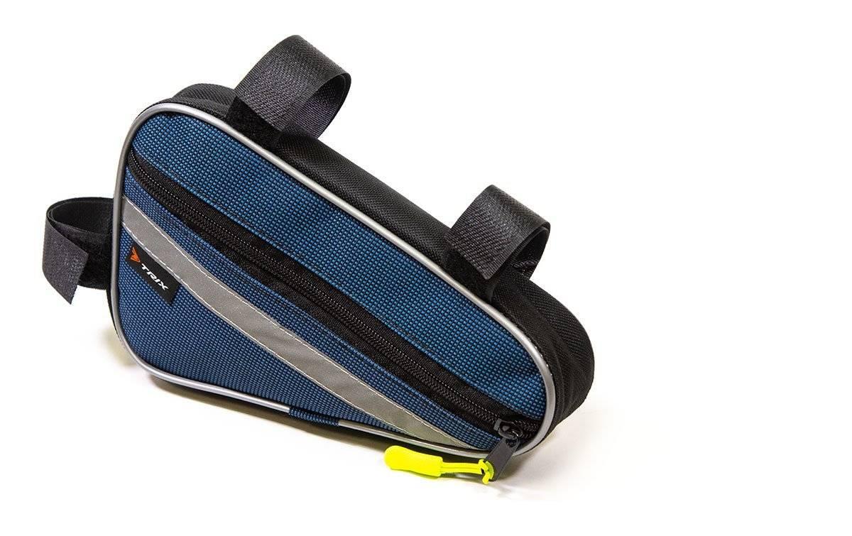 Велосумка TRIX под раму, малая, синяя, вр013.022.1.0