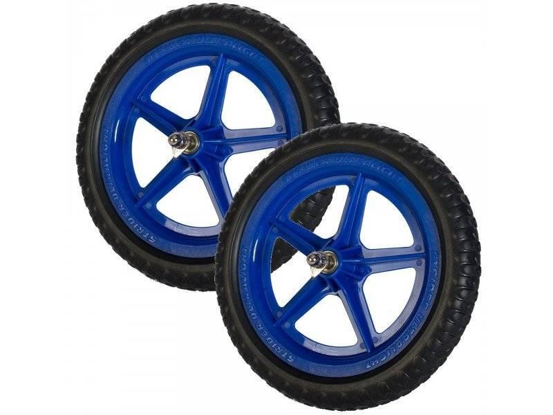 Колеса для беговела, пара, синие
