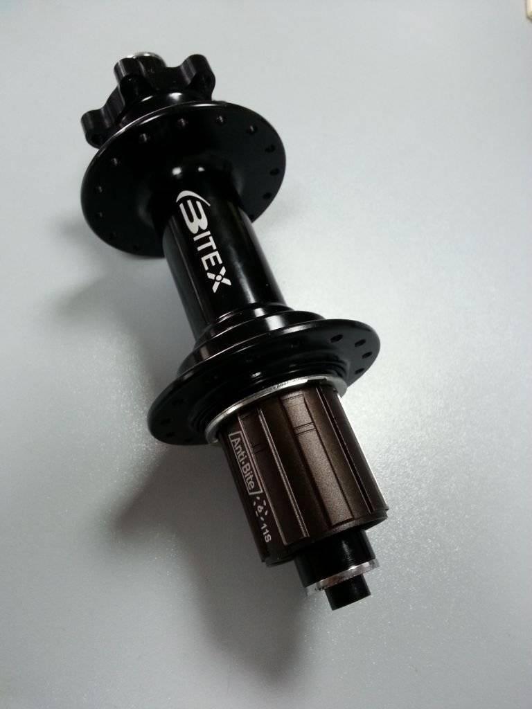 Втулка велосипедная Bitex, задняя, под кассету, для фэтбайка, под эксцентрик, FB-MTR12-177BK_ShimAL