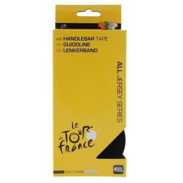 Обмотка велоруля VELO, дизайн Tour de France, черная, индивидуальная упаковка, 410275