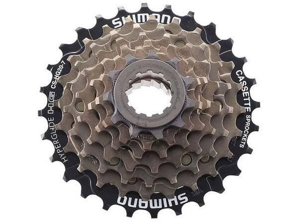 Кассета велосипедная Shimano Altus CS-HG-20-7, 12-28T, 7 скоростей, 587632
