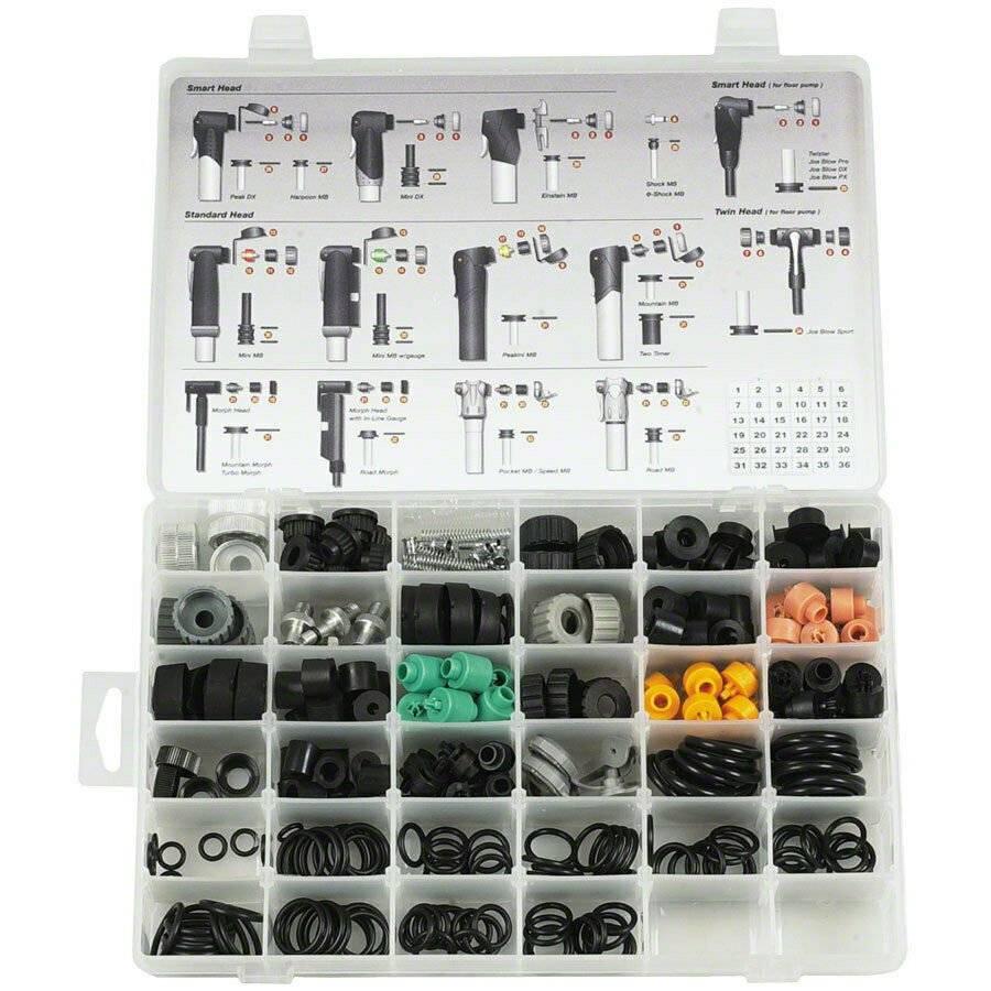 Бокс с запасными частями для ремонта ручных насосов TOPEAK Pump Rebuilt Kits BOX II, RK-PBOX-2