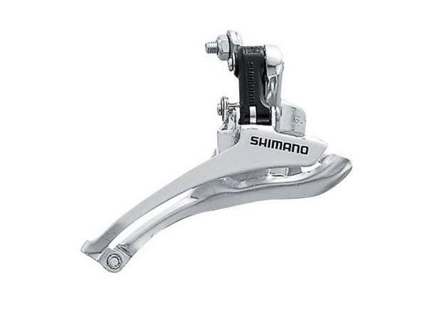 Переключатель велосипедный передний SHIMANO FD-А050, нижняя тяга, хомут 31,8 мм, шоссе, 5114 переключатель передний dnp ly g818lj 42т хомут 34 9mm нижняя тяга