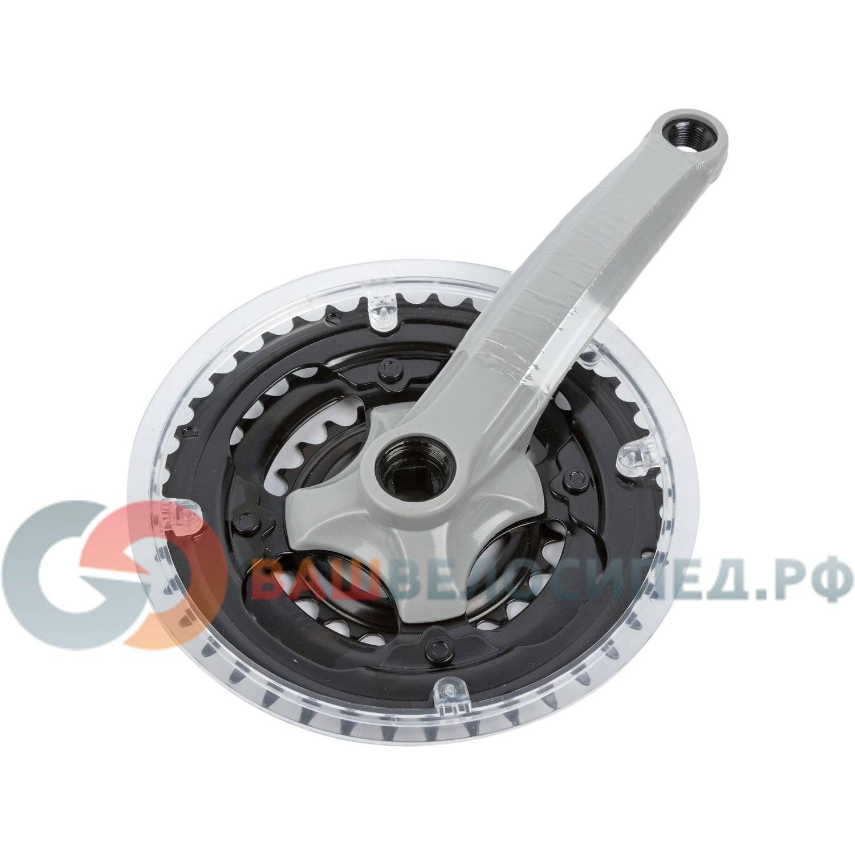 Система шатунов велосипедная CYCLONE SP5-TS340P17, под квадрат 24/34/42Тх170мм, сталь/пластик, SP5-TS340P17