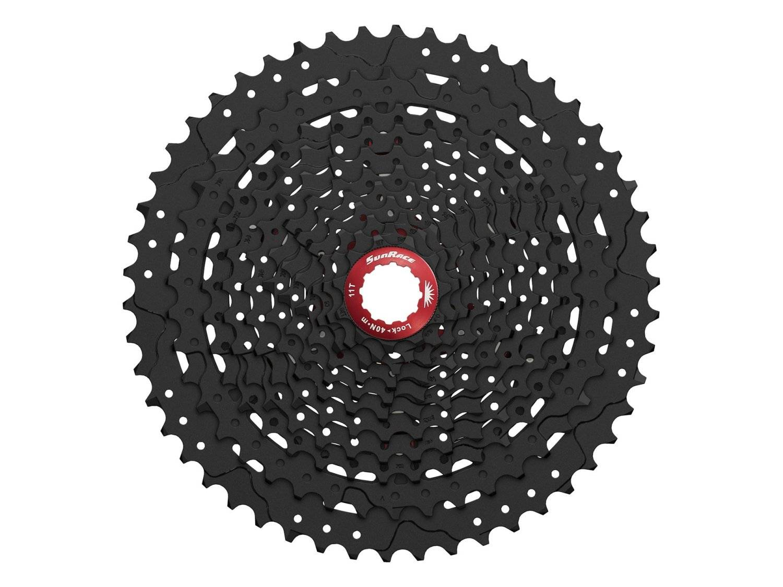 Кассета велосипедная SunRace MX80 11S, 11-50T, Black Chrome, CSMX80.EA5R.OS0