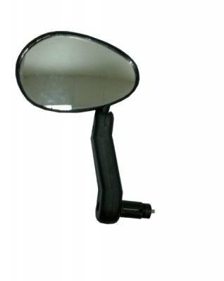 Зеркало велосипедное, плоское, левое, 110х80 мм, на руль 15-22 мм, DX-222L