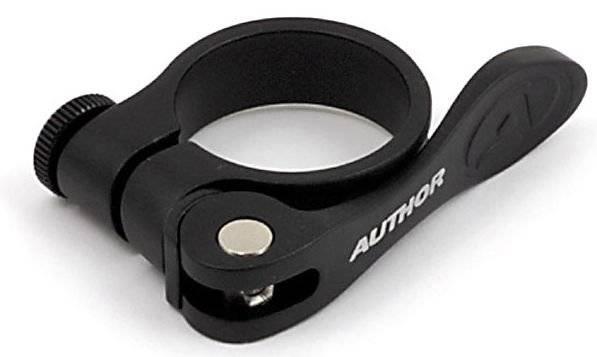 Хомут подседельный велосипедный Author посадочный диаметр 31,8 мм, черный, 8-30052010