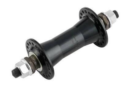 Втулка велосипедная JOYTECH, передняя, алюминий, на гайках, 36Н, чёрный, 753SBT (36 отв.)