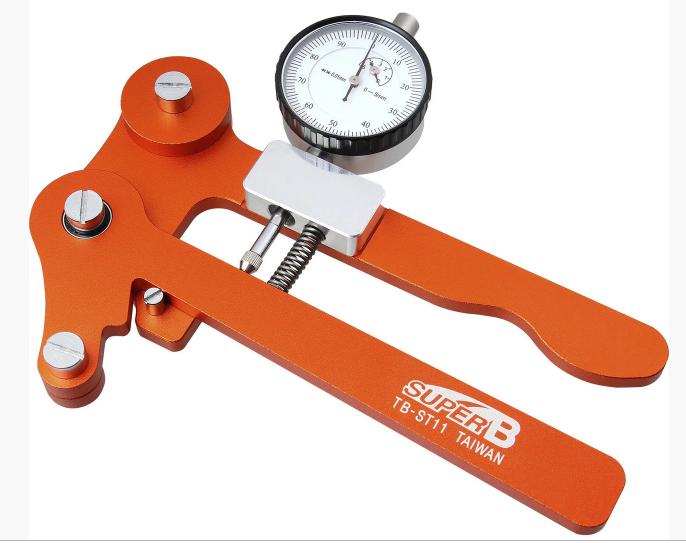 Тензометр велосипедный SUPERB, инструмент для измерения натяжения спиц, в кейсе, оранжевый, 5-880167