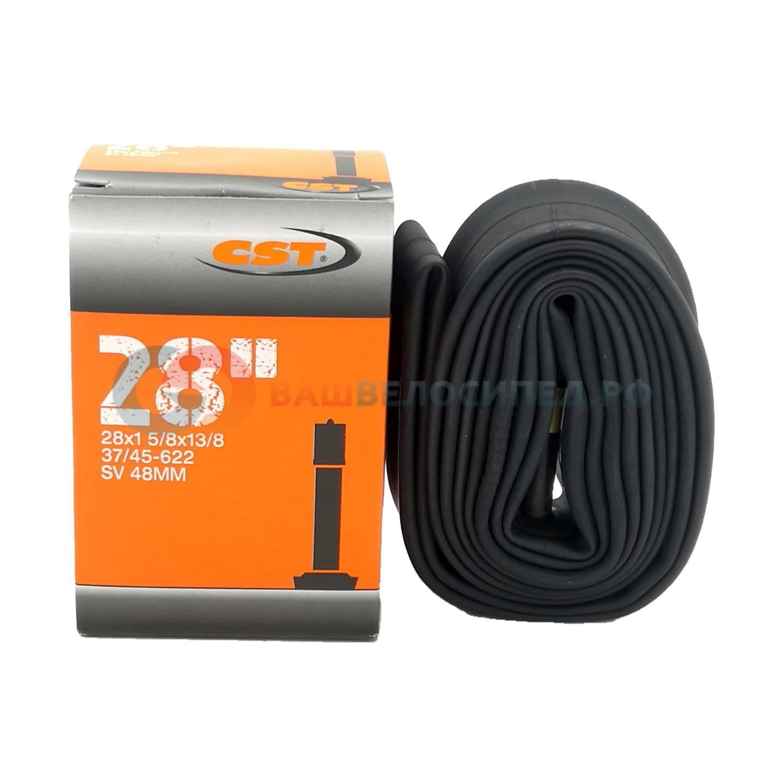 Купить камера велосипедная cst, 700x35/43c, schrader 48mm, автониппель, ib90328000, цена в интернет магазине Навелосипеде.рф