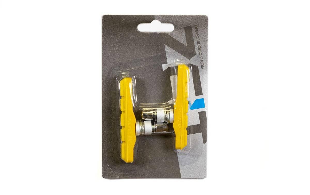 Тормозные колодки ZEIT, для V-брейк тормозов, резьбовые, желтый, Z-612