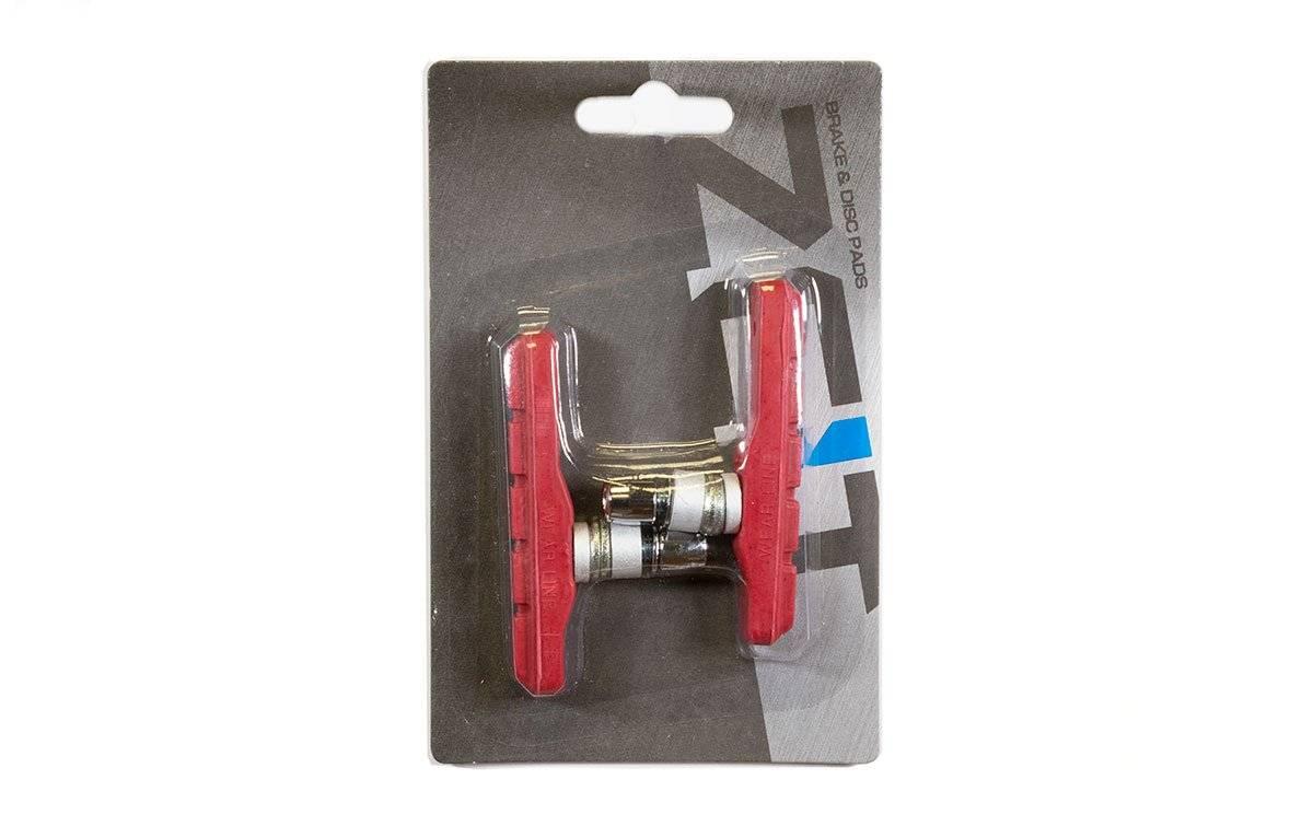 Тормозные колодки ZEIT, для V-брейк тормозов, резьбовые, красный, Z-611