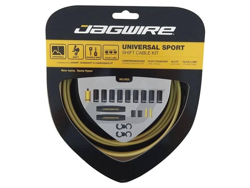 Тросы с оболочками JAGWIRE тормозные,Universal Sport Shift, комплект, золото, UCK216
