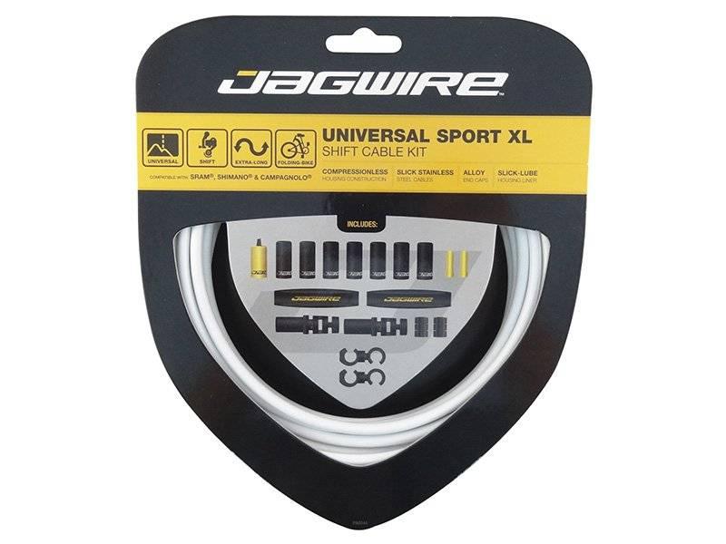 Тросы с оболочками JAGWIRE тормозные,Universal Sport Shift XL, комплект, белый, UCK601