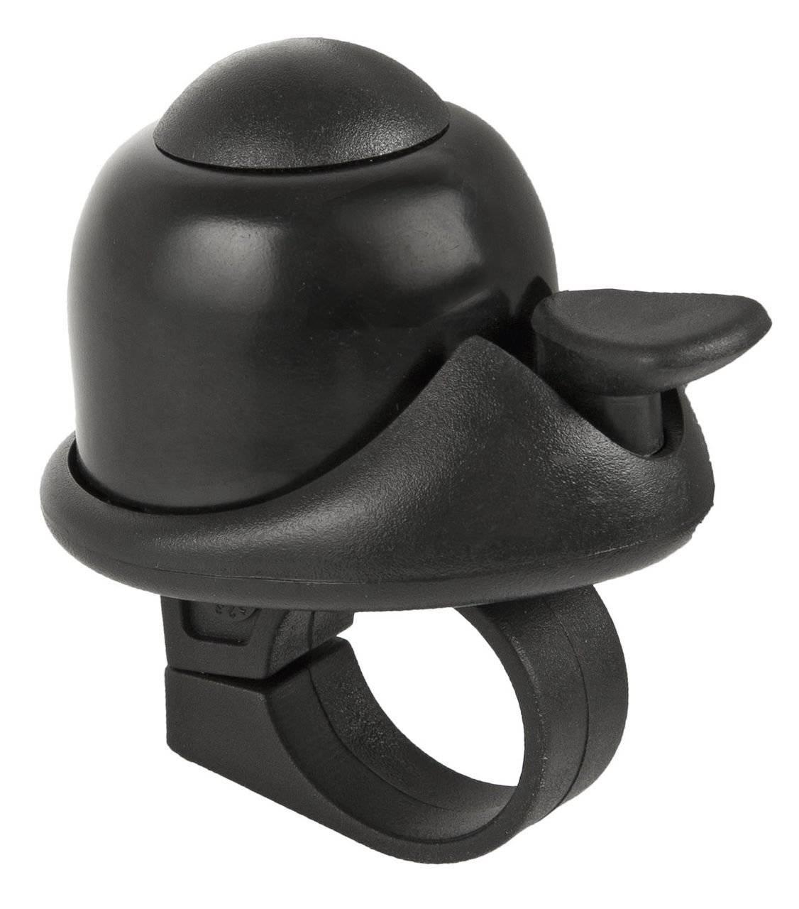 Звонок M-WAVE, алюминий/пластик, мини D=36 мм, громкий и долгий звук, черный, 5-420066