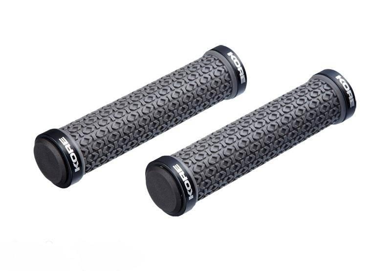 Грипсы Kore Ikon Skinny Lock-On Grip, 135 мм, кретон, серые, 104 г, KGPIKSG135NKYAT, фото 1