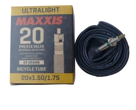 Камера велосипедная MAXXIS ULTRALIGHT 20X1.90/2.125 0.6 LFVSEP (O-CA), черный, EIB29566100