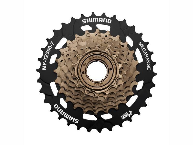 Трещотка велосипедная Shimano MF-TZ500, 7 скоростей, 14-34T, 520106, LU089716
