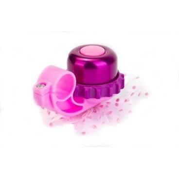 Звонок велосипедный Stels 24AW, Фиолетовый, 210121, LU059658