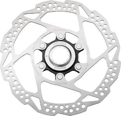 Ротор велосипедный SHIMANO RT54, 160мм, C.Lock, только для пластиковых колодок, ESMRT54SE
