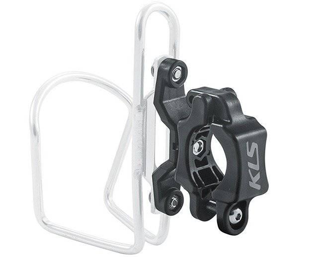 Фото - Адаптер флягодержателя KLS Slot, на руль/подседельный штырь, D:22,2 - 31,8 мм, пластик адаптер b twin крепеж для флягодержателя на руль на вынос руля или на подседельный штырь