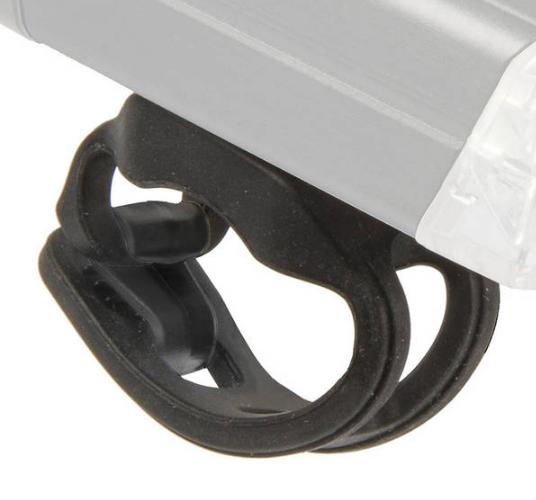 Крепление для велосипедных фар Apollon 20 USB, для фар 220421/221092, 22,2 - 35 mm, черный, 223551