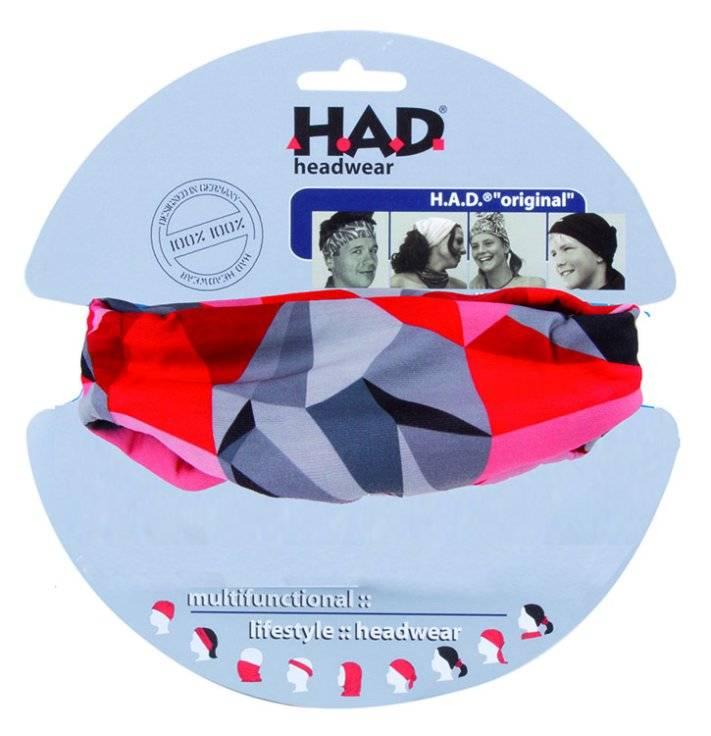 Бандана HAD 5-715235 полиэстер MICOLITE с микрофиброй 24х50см ROKS RED красно-серая, фото 1