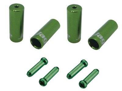 Наконечники JAGWIRE оболочек 10х4,5мм, 6х5мм) и тросов (4 штуки) зелёные, комплект, CHA099-EJ