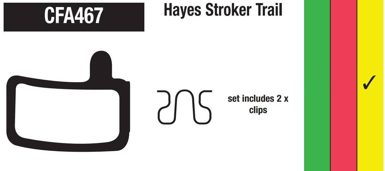 Тормозные колодки EBC Hayes Stroker Trail, золотистый, CFA467