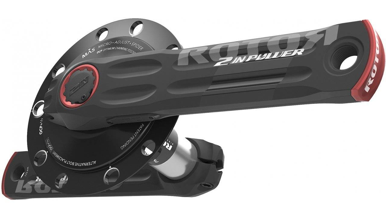 Шатуны с измерителем мощности Rotor 2Inpower MAS BSD110 Black/Red 175mm (C13-027-21010-001), фото 3