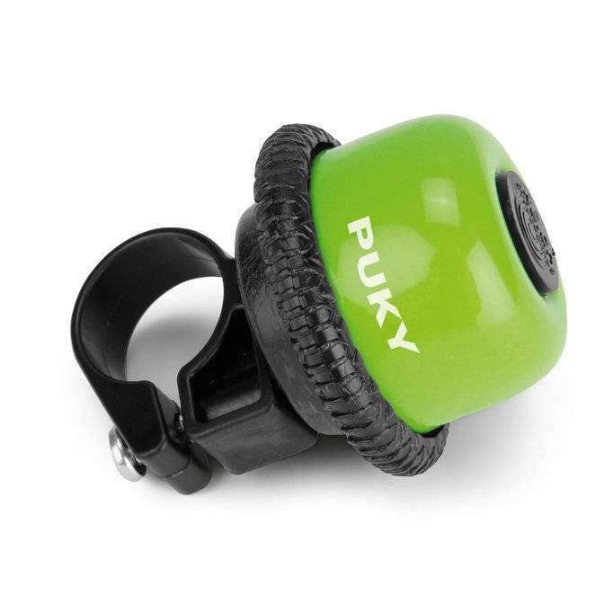 Звонок велосипедный Puky G20, для беговелов и самокатов, kiwi, 9854