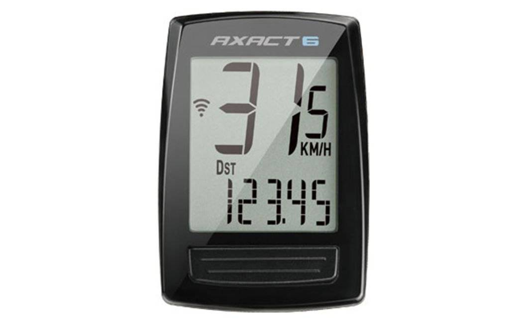 Велокомпьютер AXACT 6, 6 функций, проводной, черный, 410000003