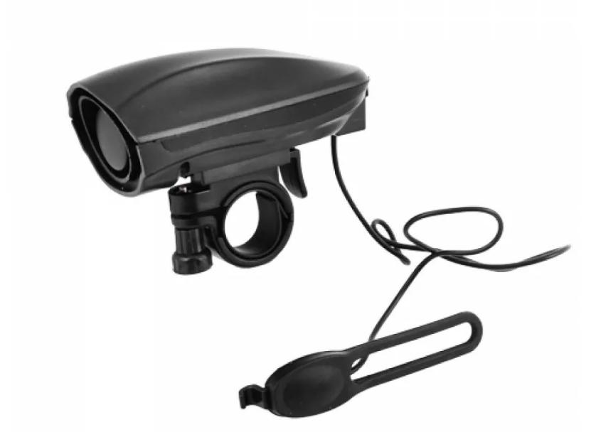 Звонок велосипедный JING YI JY-575J, электронный, с выносной кнопкой, черный, RNVJY575J001