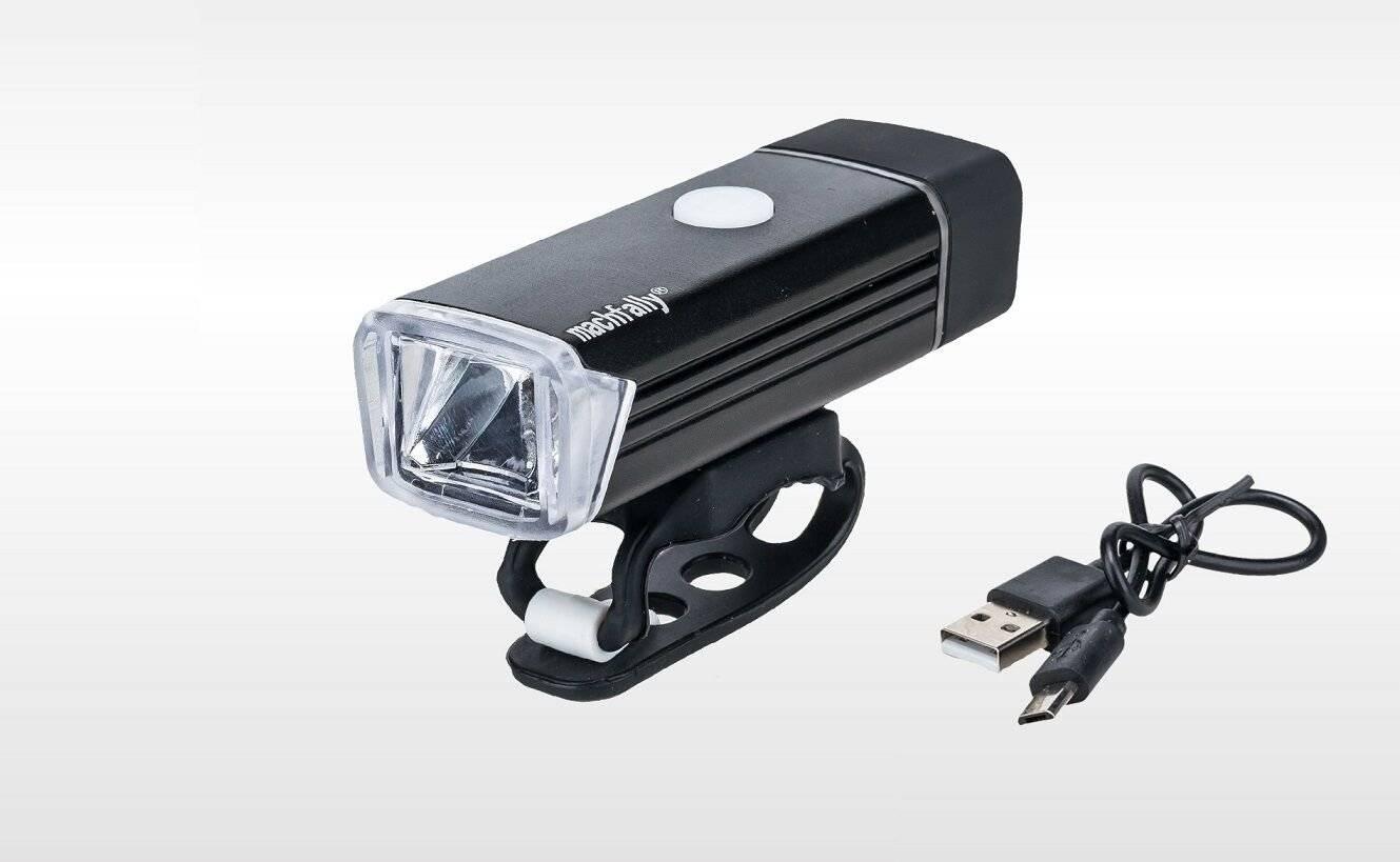 Фара велосипедная Machfally 888, передняя, алюминий, 180 lumens, USB зарядка, аккумулятор, LED, черный, FWD3265225