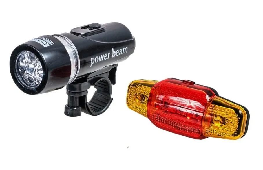 Фонари велосипедные FY-202, комплект (передний+задний), LED, 5 диодов, 4 режима работы, FWD3264148